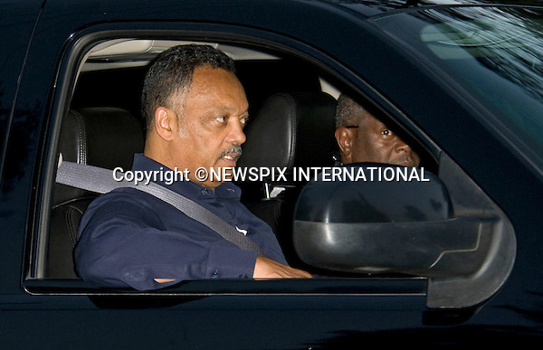 "REV JESSE JACKSON.arrives at the  Jackson Family Home in Encino.Jesse Jackson has been helping the Jackson family with the arrangements for the Michael Jackson farewell, Los Angeles_03/07/2009.Mandatory Photo Credit: ©Dias/Newspix International..**ALL FEES PAYABLE TO: ""NEWSPIX INTERNATIONAL""**..PHOTO CREDIT MANDATORY!!: NEWSPIX INTERNATIONAL(Failure to credit will incur a surcharge of 100% of reproduction fees)..IMMEDIATE CONFIRMATION OF USAGE REQUIRED:.Newspix International, 31 Chinnery Hill, Bishop's Stortford, ENGLAND CM23 3PS.Tel:+441279 324672  ; Fax: +441279656877.Mobile:  0777568 1153.e-mail: info@newspixinternational.co.uk"