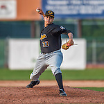 12 July 2015: West Virginia Black Bears pitcher Julio Eusebio on the mound against the Vermont Lake Monsters at Centennial Field in Burlington, Vermont. The Lake Monsters rallied to defeat the Black Bears 5-4 in NY Penn League action. Mandatory Credit: Ed Wolfstein Photo *** RAW Image File Available ****
