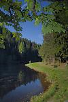 Walking trail along lake national park Kaunertal. Imst district, the Tyrol, Tirol, Austria.