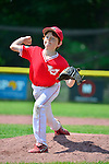 1 June 2013: The Burlington American Reds in Little League action against the Burlington American Mariners at Calahan Park in Burlington, Vermont. The Mariners rallied from a 5 run deficit in the 6th inning, but fell to the Reds 10-9. Mandatory Credit: Ed Wolfstein Photo