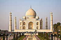 Tourists enjoying the Taj Mahal, built by the Mughal emperor Shah Jahan in the memory of his beloved wife Mumtaz Mahal. (Photo by Matt Considine - Images of Asia Collection)