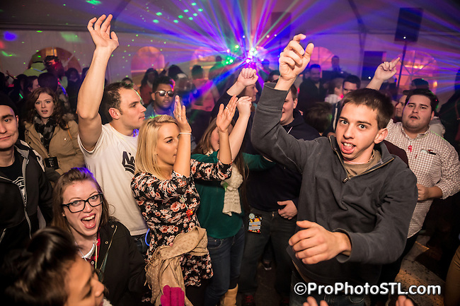 First Night 2015 New Year's Eve celebration in Grand Center arts and entertainment district of St. Louis, MO on Dec 31, 2014.