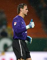 USSBALL   1. BUNDESLIGA    SAISON 2012/2013    10. Spieltag   Werder Bremen - FSV Mainz 05                             04.11.2012 Torwart Christian Wetklo (1. FSV Mainz 05)