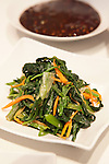 Korean style spinach and vegetables and Gochujang,  hot chili pepper paste/sauce, the condiment of choice in Korea
