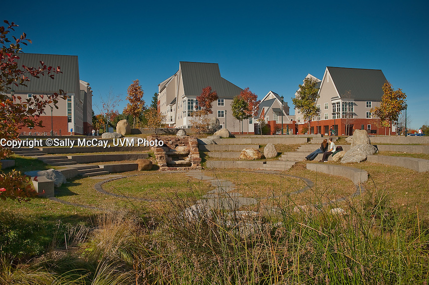 University Heights Residence Halls and Campus Amphitheatre, UVM Campus, Fall