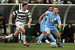 11 December 2011: North Carolina's Billy Schuler (10) and UNCC's Robby Thomas (29). The University of North Carolina Tar Heels defeated the University of North Carolina Charlotte 49ers 1-0 at Regions Park in Hoover, Alabama in the NCAA Division I Men's Soccer College Cup Final.