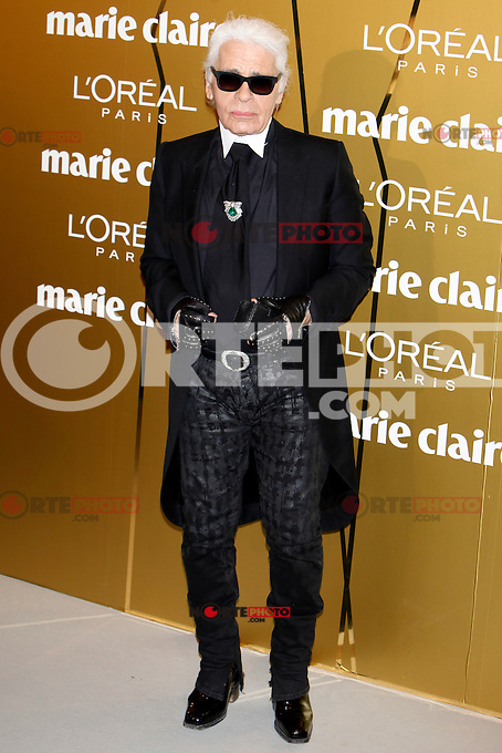Karl Lagerfeld attend Marie Claire Prix de la Moda awards 2012 at French Embassy in Madrid. November 22, 2012. (ALTERPHOTOS/Caro Marin) /NortePhoto
