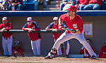 13 March 2014: Washington Nationals outfielder Bryce Harper in action during a Spring Training game against the New York Mets at Space Coast Stadium in Viera, Florida. The Mets defeated the Nationals 7-5 in Grapefruit League play. Mandatory Credit: Ed Wolfstein Photo *** RAW (NEF) Image File Available ***