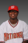 14 March 2008: ..Portrait of Esmailyn Gonzalez, Washington Nationals Minor League player at Spring Training Camp 2008..Mandatory Photo Credit: Ed Wolfstein Photo