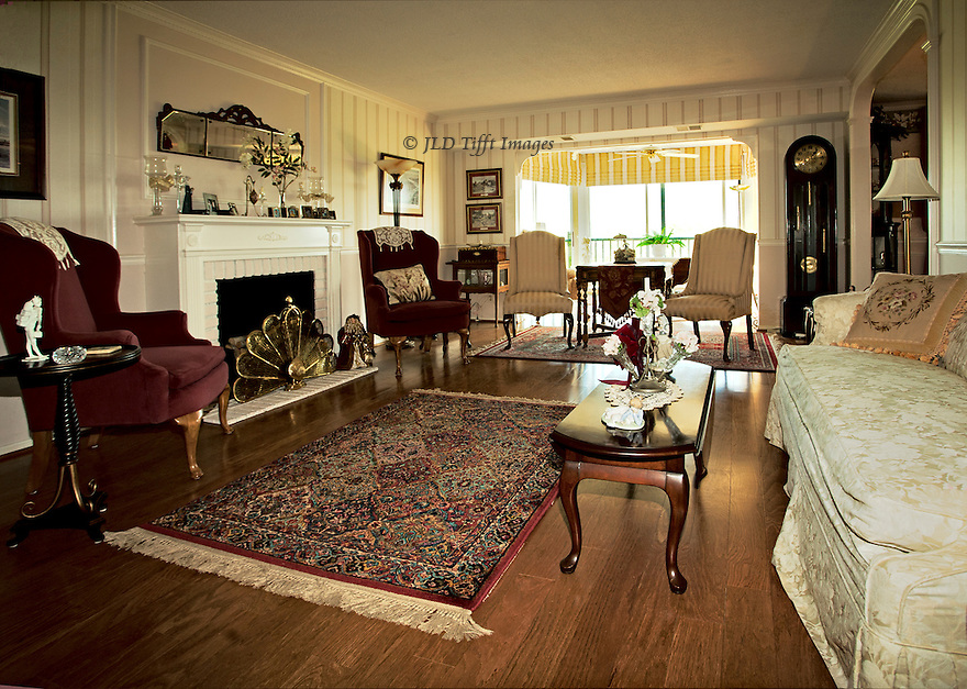 Apartment interior of a typical american middle class living room in a