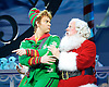 Elf <br /> by Thomas Meehan and Bob Martin <br /> at the Dominion Theatre, London, Great Britain <br /> press photocall <br /> 2nd November 2015 <br /> <br /> Ben Forster as Buddy <br /> Mark McKerracher as Santa <br /> <br /> <br /> Photograph by Elliott Franks <br /> Image licensed to Elliott Franks Photography Services