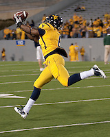 WVU tight end Will Johnson. The West Virginia Mountaineers defeated the South Florida Bulls 20-6 on October 14, 2010 at Mountaineer Field, Morgantown, West Virginia.