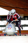 19 November 2005: Serge Despres pilots the Canada 2 sled to a 17th place finish at the 2005 FIBT AIT World Cup Men's 2-Man Bobsleigh Tour at the Verizon Sports Complex, in Lake Placid, NY. Mandatory Photo Credit: Ed Wolfstein.