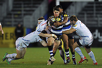 Adam Hastings of Bath United takes on the Exeter Braves defence. Aviva A-League match, between Bath United and Exeter Braves on November 30, 2015 at the Recreation Ground in Bath, England. Photo by: Patrick Khachfe / Onside Images