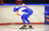 SCHAATSEN: HEERENVEEN: 04-10-2014, IJsstadion Thialf, Trainingswedstrijd, Ireen Wüst, ©foto Martin de Jong