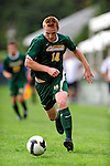 13 September 2009: University of Vermont Catamount forward Marty Galvin, a Senior from No. Weymouth, MA, in action against the University of Massachusetts Minutemen during the second round of the 2009 Morgan Stanley Smith Barney Soccer Classic held at Centennial Field in Burlington, Vermont. The Catamounts and Minutemen battled to a 1-1 double-overtime tie. Mandatory Photo Credit: Ed Wolfstein Photo