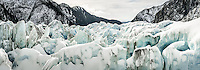 Crevasses of Franz Josef Glacier, Westland Tai Poutini National Park, West Coast, South Westland, UNESCO World Heritage Area, New Zealand, NZ