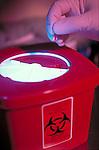 biohazard disposal container, needlestick prevention