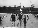 East McKeesport PA:  The Brady Jr, Helen and Sally Stewart taking a break from swimming at the Blue Dell Swimming Pool - 1932