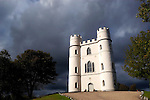 """Haldon Belvedere, Exeter, Devon. Built in 1788 by celebrated English cleric and politician Sir Robert Palk, the striking triangular structure of Haldon Belvedere, whose three points are marked by identical turret-topped towers, was visited by King George III, albeit late in his reign when he was suffering from an incurable mental illness. The construction of a local carriageway, simply called """"King's Road,"""" predates that visit, indicating that Palk probably had such a brush with royalty in mind. The building is today used as accommodation and wedding venue."""