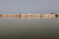 Senegal, Saint Louis.  View from the Mainland, across the River Senegal.