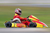 Greg Galway, 2, races in the National Superkarts class during the 2012 Superkart National Champs and Grand Prix at Manfeild in Feilding, New Zealand on Saturday, 7 January 2011. Credit: Hagen Hopkins.