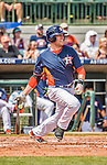 22 March 2015: Houston Astros infielder Jed Lowrie singles in the second inning of Spring Training action against the Pittsburgh Pirates at Osceola County Stadium in Kissimmee, Florida. The Astros defeated the Pirates 14-2 in Grapefruit League play. Mandatory Credit: Ed Wolfstein Photo *** RAW (NEF) Image File Available ***