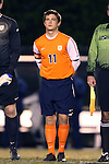 12 November 2013: Virginia's Eric Bird. The Wake Forest University Demon Deacons hosted the University of Virginia Cavaliers at Spry Stadium in Winston-Salem, North Carolina in a 2013 NCAA Division I Men's Soccer match and the quarterfinals of the Atlantic Coast Conference tournament. Virginia won the game 1-0 in overtime.