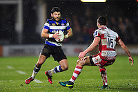 Jeff Williams of Bath Rugby in possession. Anglo-Welsh Cup match, between Bath Rugby and Gloucester Rugby on January 27, 2017 at the Recreation Ground in Bath, England. Photo by: Patrick Khachfe / Onside Images