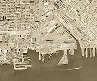 historical aerial photograph Mission Bay, San Francisco, 1968