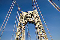 George Washington Bridge, connecting Manhattan in New York City, New York, to Fort Lee in New Jersey. architect Othmar Ammann, Cass Gilbert