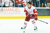 Jiri Hudler (Detroit Red Wings, #26) at warm up during ice-hockey match between Los Angeles Kings and Detroit Red Wings in NHL league, February 28, 2011 at Staples Center, Los Angeles, USA. (Photo By Matic Klansek Velej / Sportida.com)
