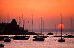 Royal Yacht Squadron  Isle of Wight sunset Cowes