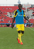 July 20, 2013: Columbus Crew foward/midfielder Dominic Oduro #11 walks off the pitch after warm-up during a game between Toronto FC and the Columbus Crew at BMO Field in Toronto, Ontario Canada.<br /> Toronto FC won 2-1.