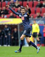 FUSSBALL   1. BUNDESLIGA  SAISON 2011/2012   23. Spieltag FC Augsburg - Hertha BSC Berlin          25.02.2012 Andre Mijatovic (Hertha BSC Berlin)