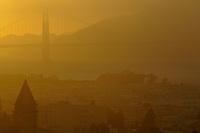 Golden Gate Bridge Sunset from Nob Hill