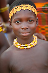 A young dancer at the Odwira Festival at Dunkwa-on-Offin on 11 December 2010.