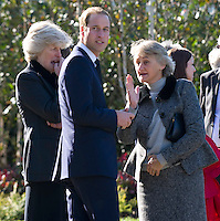 Prince William attends the funeral of his nanny with Princess Diana's sisters