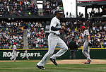 Seattle Mariners' Austin Jackson scores off Seth SMith's triple to left field against the Los Angeles Angels in the season home opener April 6, 2015 at Safeco Field in Seattle.  The Mariners beat the Angels 4-1.    ©2015. Jim Bryant Photo. ALL RIGHTS RESERVED.