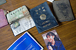Passports and other ID documents are among around  50,000 items salvaged from the debris in the 6 months that have past since the March 11 tsunami at a repository that was formerly a school gym in Ishinomaki, Miyagi Prefecture on 10 Sept. 2011.  Photograph: Robert Gilhooly