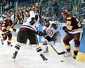 Mike Seidel (Duluth - 17), Nolan Julseth-White (Union - 2), Andrew Buote (Union - 14), Justin Faulk (Duluth - 25) - The University of Minnesota-Duluth Bulldogs defeated the Union College Dutchmen 2-0 in their NCAA East Regional Semi-Final on Friday, March 25, 2011, at Webster Bank Arena at Harbor Yard in Bridgeport, Connecticut.