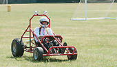 Design Technology class built this buggy 9driven in this shot by the teacher), state secondary school.