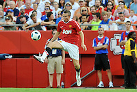 Tom Cleverley...Kansas City Wizards defeated Manchester United 2-1 in an international friendly at Arrowhead Stadium, Kansas City, Missouri.