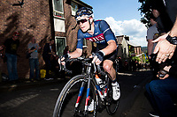 Picture by Alex Whitehead/SWpix.com - 14/05/2017 - Cycling - 2017 HSBC UK | Spring Cup Road Series - Lincoln Grand Prix - JLT Condor's Tom Moses climbs Michaelgate cobbles.