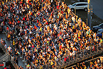 Jan. 20, 2012; Jupiter, FL, USA: Aerial view of NHRA fans in the crowd during testing at the PRO Winter Warmup at Palm Beach International Raceway. Mandatory Credit: Mark J. Rebilas-