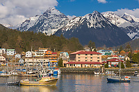 Commercial fishing vessel purse seiner in ANB Harbor, Sitka, southeast, Alaska