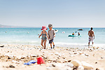 Family beach time at Freshwater Bay, Isle of Wight.