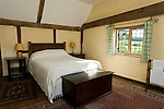 Early morning in the bedroom of Obriss Farm. Obriss Farm is a building near Westerham, Kent,  belonging to the Landmark Trust, a United Kingdom building preservation charity that rescues historic buildings at risk and gives them a new life as places to stay in and experience.