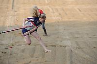 FIERLJEPPEN: IT HEIDENSKIP: 28-05-2016, Sigrid Bokma wint bij de meisjes met 14.89 meter, ©foto Martin de Jong
