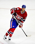 22 March 2010: Montreal Canadiens' left wing forward Benoit Pouliot in action against the Ottawa Senators at the Bell Centre in Montreal, Quebec, Canada. The Senators shut out the Canadiens 2-0 in their last meeting of the regular season. Mandatory Credit: Ed Wolfstein Photo